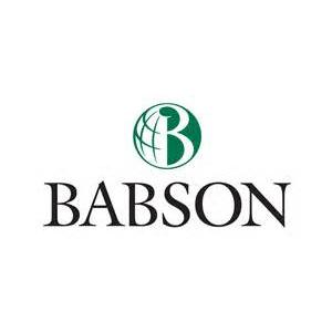 Babson College logo.