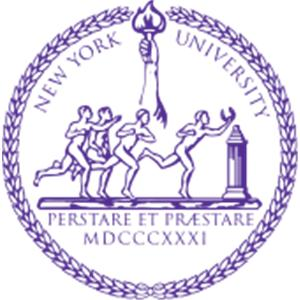 New York University logo.