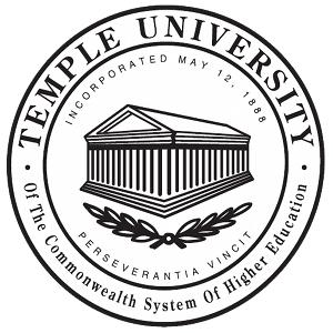 Temple University, Main and Ambler logo.