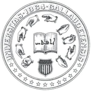 Gallaudet University logo.