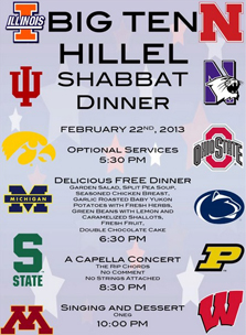 Flyer from Big Ten Hillel Shabbaton