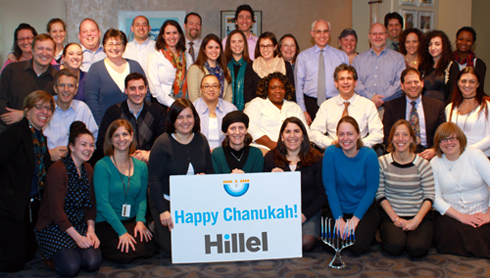 Schusterman International Center Team Chanukah Photo.