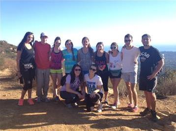 Santa Barbara Hillel students spend a beautiful Sunday afternoon hiking to Inspiration Point.