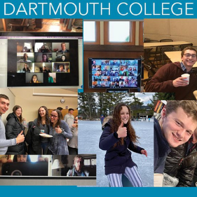 A collage of images of students