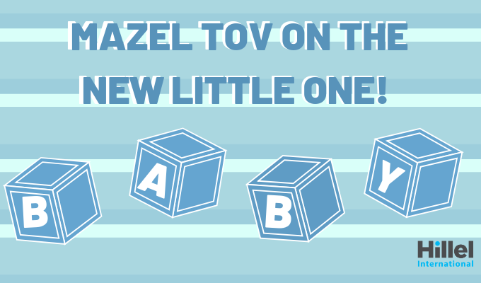 mazel tov on the new little one baby blue