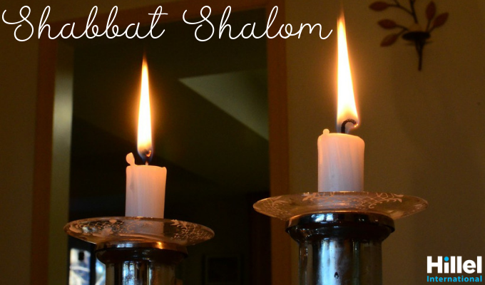 shabbat shalom candles