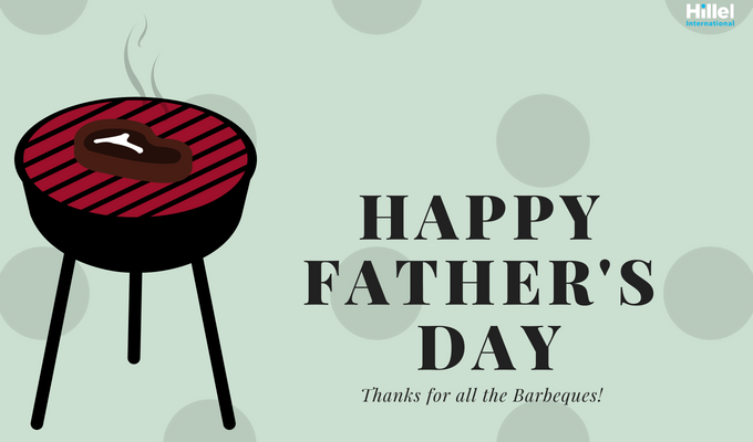"""Happy Father's Day. Thanks for all the barbeques!"" with an image of a grill"