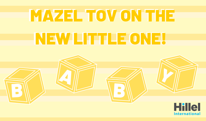 mazel tov on the new little one baby yellow