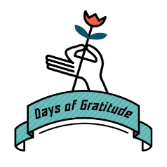 Days of Gratitude logo.