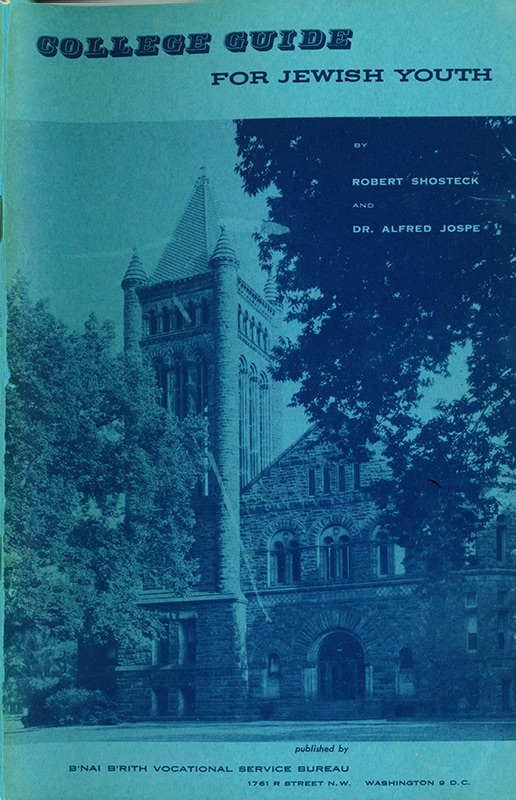 Original College Guide from 1955 - Cover.